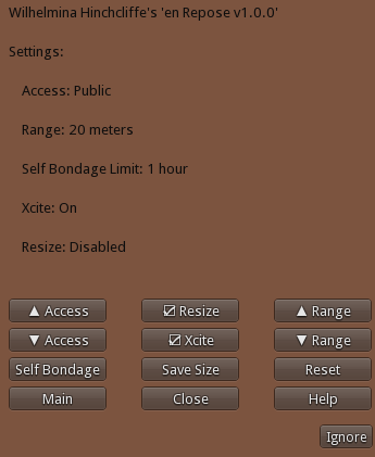 En Repose Owner Settings Menu